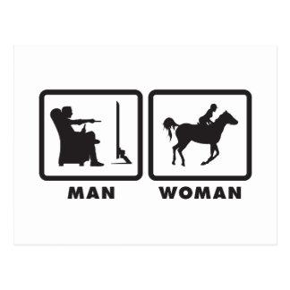 Horse Riding Postcard