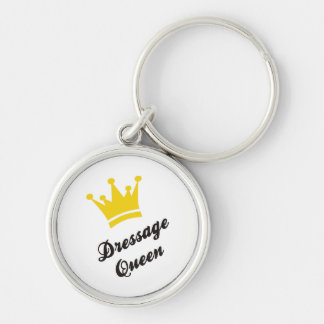 horse riding Silver-Colored round keychain