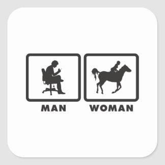 Horse Riding Square Sticker