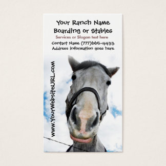 Horse Riding Stables or Boarding Services Business Card