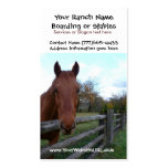 Horse Riding Stables or Boarding Services Double-Sided Standard Business Cards (Pack Of 100)