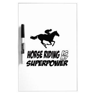 Horse Riding Superpower Designs Dry Erase Board