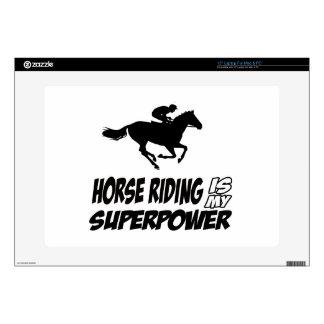 Horse Riding Superpower Designs Laptop Skin