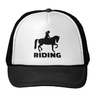 Horse riding trucker hat