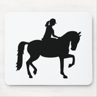 Horse riding woman mouse pad