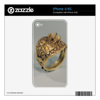 Horse ring (gold and cornelian) decals for the iPhone 4S