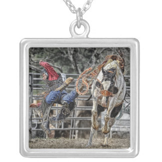 Horse Rodeo Bronco Necklace