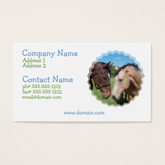 Horse Romance Business Card