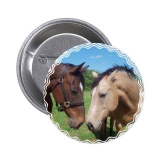 Horse Romance Round Button