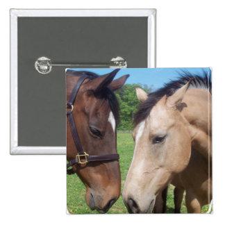 Horse Romance Square Pin