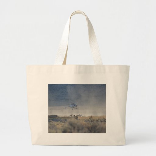 Horse Round Up Jumbo Shopping Tote Canvas Bag