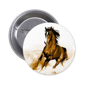 Horse Running 2 Inch Round Button