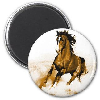 Horse Running 2 Inch Round Magnet