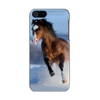 Horse running across the field in winter incipio feather® shine iPhone 5 case