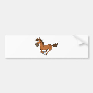 Horse Running Bumper Sticker