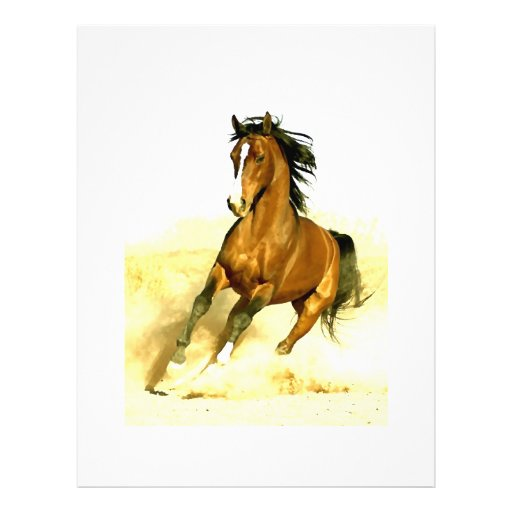 Horse Running Full Color Flyer
