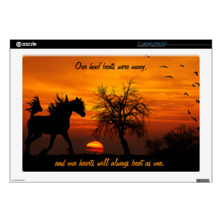 Horse Running Free at Sunset Laptop Skin