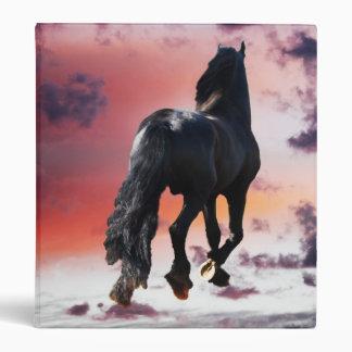 Horse running free binder