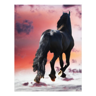 Horse running free personalized flyer
