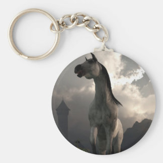 Horse Running Free in the Middle Ages Keychain