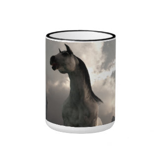 Horse Running Free in the Middle Ages Coffee Mugs
