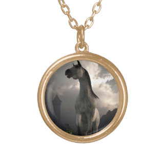Horse Running Free in the Middle Ages Necklaces