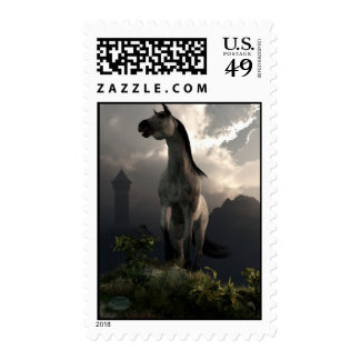 Horse Running Free in the Middle Ages Postage