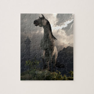 Horse Running Free in the Middle Ages Jigsaw Puzzle