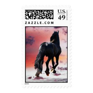 Horse running free postage
