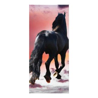 Horse running free rack card