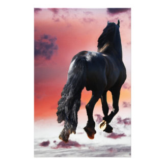 Horse running free stationery