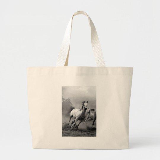 Horse Running Large Tote Bag