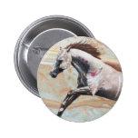 horse running pinback button