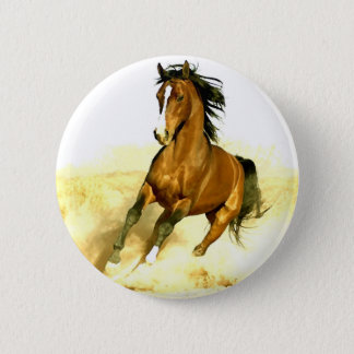 Horse Running Pinback Button