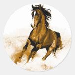 Horse Running Round Sticker