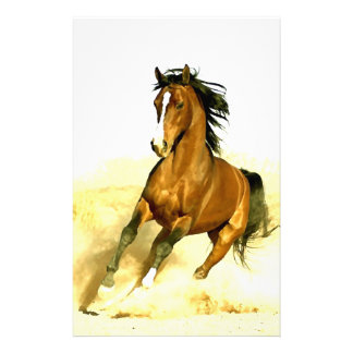Horse Running Stationery