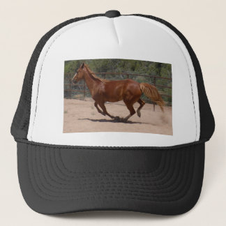Horse running trucker hat