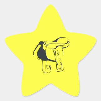 Horse Saddle 2 Star Sticker