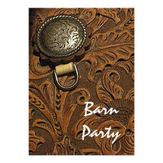 Horse Saddle Barn Party Invitation