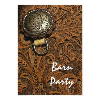 "Horse Saddle Barn Party Invitation 5"" X 7"" Invitation Card"