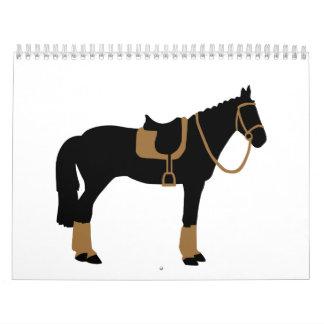 Horse saddle calendar