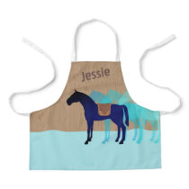 Horse saddle kids cooking crafts personalized apron