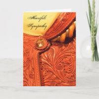 Horse Saddle Sympathy Card
