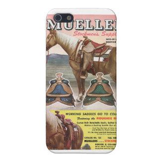 Horse & Saddles (Vintage Catalog Image) Case For iPhone SE/5/5s