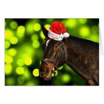 Horse Santa Christmas Card