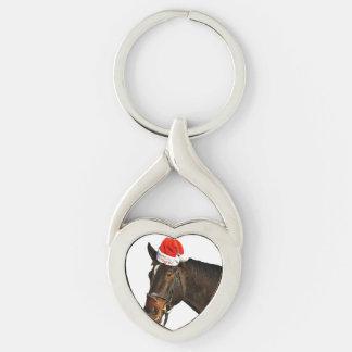 Horse santa - christmas horse - merry christmas keychain