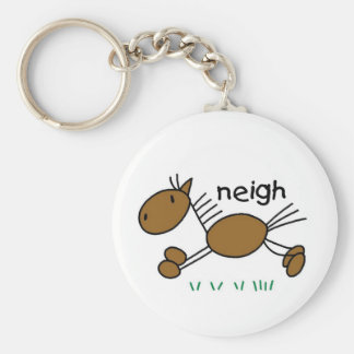 Horse Says Neigh Tshirts and Gifts Keychain