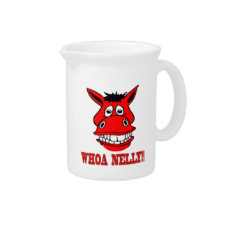 Horse Says Whoa Nelly Beverage Pitcher
