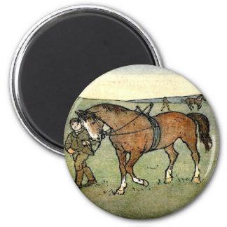 Horse School 2 Inch Round Magnet