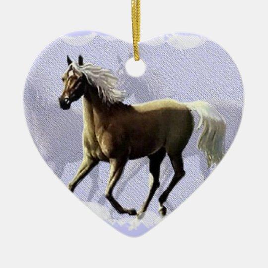 Horse Shadow Ceramic Ornament